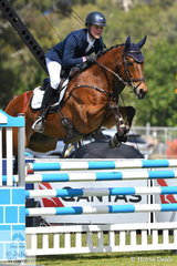 Victorian professional rider, Andrew Cooper added nothing to their score after the dressage phase riding Viv Higgins' Thoroughbred, 'Omega Star' to move from 30th to seventh place in the Horseland CCI3*-L.