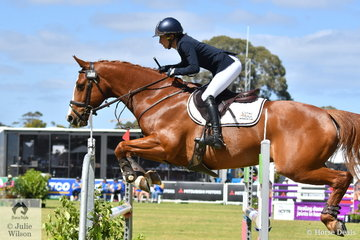 Talented NSW rider, Annabel Armstrong added nothing further to her dressage score riding her Conquistador gelding, 'Pumpernickel' to move from 26th to sixth place after the final jumping phase of the  Horseland CCI3*-L.
