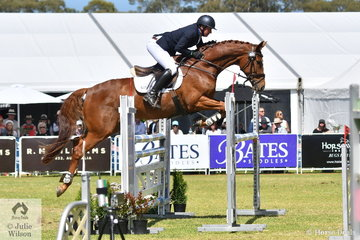 Simon Tainsh from Victoria added just four jumping penalties riding  his Lauries As gelding, 'Remi Lord of the Realm' to take eighth place in the Horseland CCI3*-L.
