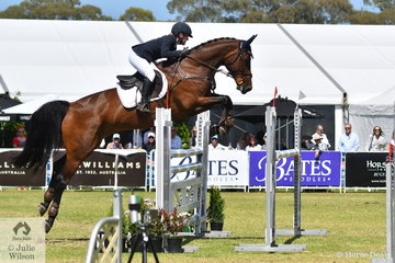 Madeline Wilson lowered just one rail riding her Yalambi's Carpino Z mare, 'Annie Jane' to take fifth place in the Horseland CCI3*-L.