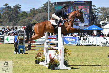 Madison Simpson from Queensland took tenth place in the Horseland CCI3*-L riding  her Fairbanks Caratgo gelding, 'Fairbanks Casino'.