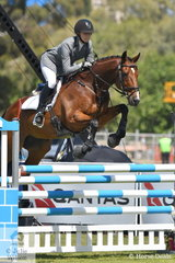 Steph Hann from South Australia rode her Thoroughbred gelding, 'True Celebre' to take ninth place in the Horseland CCI3*-L.