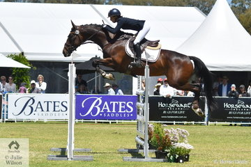 Annabel Armstrong just added one rail to her score to take eighth place in the RM Williams CCI4*-S riding her Quest For Fame Thoroughbred mare, 'Quaprice'.