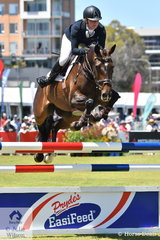 New Zealand rider, Madison Crowe lowered one rail riding her talented New Zealand bred, 'Waitangi Pinterest'  to take fourth place in the RM Williams CCI4*-S.