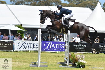 Jessica Rae from NSW posted a clear round riding  her Regardez Moi gelding, 'Rascal' to take second place in the RM Williams CCI4*-S.