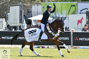 Andrew Cooper added nothing to his dressage score riding Beth Collins', 'Riverbreeze' by Riverside to post an impressive win in the RM Williams CCI4*-S.