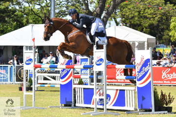 With a good run across country and a good showjumping phase, Hamish Cargill moved from 12th to fifth place in the Mitsubishi CCI5*-L riding his Le Premiur gelding, 'Legolas KPH'.