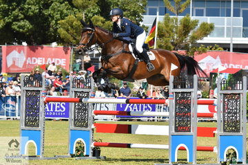 Emily Gray from WA took eighth place in the Mitsubishi CCI5*-L riding her Jubilee Bay gelding, 'Jocular Vision'