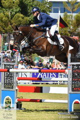 Stuart Tinney put in a characteristically classy performance riding his eight year old, 'Leporis' and added just four junping penalties to take second place in the Mitsubishi CCI5*-L.