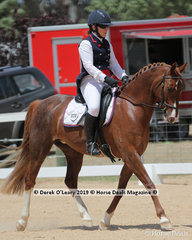 """Jo Watson rode """"Sienna Jordjina"""" in the Level 1A representing King Valley ARC."""