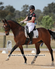 """Claire Hawkey placed 3rd in the Level 1A riding """"Miss Martini"""" representing Yarra Valley ARC"""