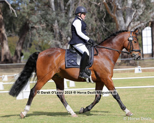 """Kathryn Brown rode """"Chev"""" in the Level 2B representing Pyalong ARC, her team the Pyalong Rockettes"""