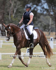 """Winners in the Level 3D, Kriston Lyons riding """"Kilroe Eddie Perfect"""" representing her team """"Time for a wine"""" from Gisborne ARC"""