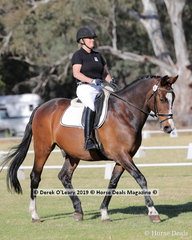 """Kerry Standish rode """"Just Delicious"""" in the Level 3E representing Balmattum Park ARC"""