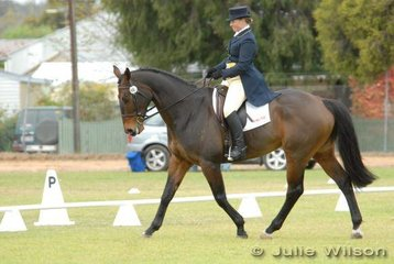 The experienced combination of Joanne Kinross and 'Judah', lie in eighth place after the Barastoc CIC** dressage phase.