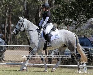 """Matilda Hutton rode """"Autumn Ice"""" in the Level 4E, representing Alpine ARC"""
