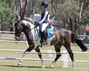 """Molly Farran rode """"Karmathen Royale"""" in the Level 3E, representing Goulburn Valley and placing 4th"""