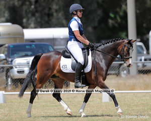 "Andrea Williams rode ""Arandth Aria Rose"" placing 2nd in the Level 3F representing Albury Wodonga"