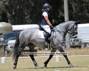 """Rebecca Beaumont rode """"Beau-Lilly"""" in the Level 3F representing Riddells Creek ARC"""