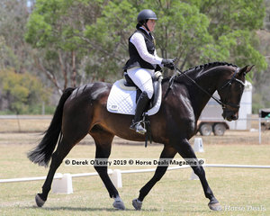 """Jaclyn Long rode """"Louis"""" in the Level 3F placing 5th representing Echuca ARC"""