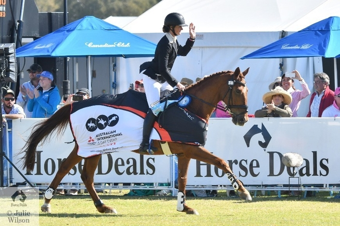 Hazel Shannon and 'Willinga Park Clifford' created Adelaide eventing history today. They won this competition in 2016, 2018 and this year again claimed the Mitsubishi CCI5*-L. There are only a handful of occasions in the world of eventing where the one rider has ridden the same horse to win the same CCI5* competition three times and Hazel and Clifford are in elite company.  Photo Credit: Julie Wilson Equestrian Photography