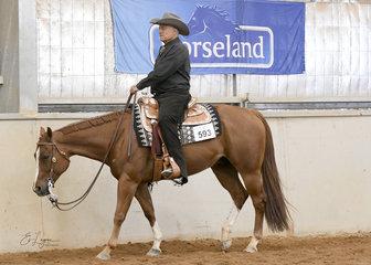 Joseph Wallace riding Hot Like A Sunrise in the Select Amateur Western Pleasure