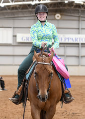 Novice Youth Horsemanship was won by Maddison Traill riding MPQ You Bet I'm Classic