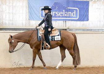 Minnie The Moocher ridden by  Kayla Senior in the Amateur Senior Horse Western Pleasure.