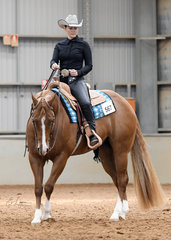 Pheobe Grass riding CP Im All Fired Up in the  Amateur  Western Horsemanship