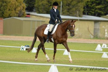 Prue Calbert and 'Jacobite' lie in 13th place in the Horse Deals CIC* competition after the dressage phase.