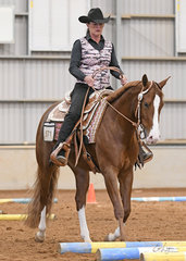 Trish Wettenhall riding Triandibo Naturallynx for Nikki Webb,  in the Junior Horse Trail