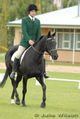 Cameron Roberts with his 'Bush Symphony' during the dressage phase of the Rymill Coonawarra Preliminary competition.