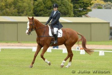 Felicity Casey with her 'Glenrose Willpower' in the dressage phase of the Rymill Coonawarra Preliminary competition.