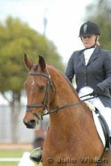 Karin Maynard with her 'Wensleydales Yorkshireman' during the dressage phase of the Horse Deals CIC*.