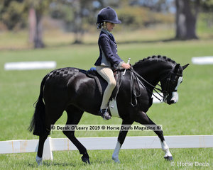 "Champion Rider 6 years & under 9 years, Alexandra Bowen riding ""Barindale Silhouette"" exhibited by Sandra Bowen"