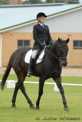 Pippa Walker with her 'Puff the Magic Dragon' during the dressage phase of the Rymill Coonawarra Preliminary competition.