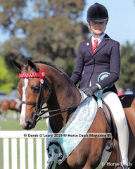 """Champion Childs Galloway 14hh and not exceeding 15hh, """"Langtree Royal Affair"""" exhibited by Fiona Kittson-Walsh and ridden by Georgina Walsh"""