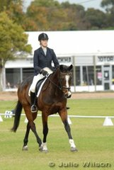 Jacqui Sandiland and her 'Bodi Zephyr' are in 11th place after the dressage phase of the CIC* competition.