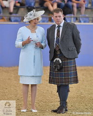 Australian Ridden Welsh and Part Welsh Championship judges, Jocelyn Filmer from the UK and Sandy Anderson from Scotland.