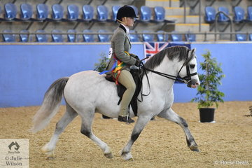 Lauren Farquhar rode her Gary Le Brocq bred, 'Torlyn Caraway' (Nattai Calypso/Nattai Cariad) to claim the Ridden Welsh A Mare, Gelding or Stallion Runner Up award.