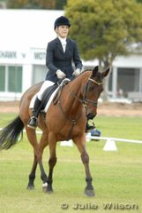 Hannah Newland with her 'Newsman' during the dressage phase of the Horse Deals CIC* competition.
