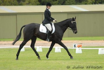 Anna Mitchell with her 'High Society' during the dressage phase of the Rymill Coonawarra Preliminary.