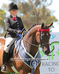 """Champion Debutante Saddle Hack, over 15hh, """"Montero"""", ridden by Briony Randle and exhibited by Sarah Allsopp"""
