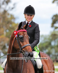 """Champion Racing 2 Recreation """"R2R"""" Newcomer Ridden Show Horse, """"Royal Muse"""" ridden and exhibited by Ava Halloran"""