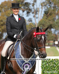 """Champion Ladies Park Hack, over 14.2hh & n/e 15.2hh, """"Royalwood Concerto"""" exhibited by Jessica Fraser and ridden by Ali Berwick"""