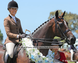 """Champion Large Show Hunter Hack, over 16hh, """"ETP La Scala"""" ridden by Ali Berwick and exhibited by Ali Berwick & Alexia Fraser"""