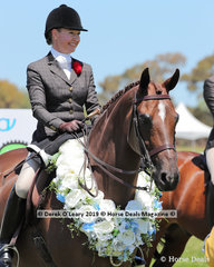 Champion Large Show Hunter Galloway over 14.2hh and N/E 15hh, Salisbury Masterpiece ridden and exhibited by Sarah McCormick
