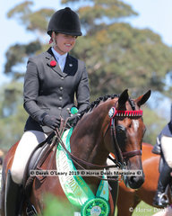 Reserve Champion Small Hack, over 15hh & n/e 16hh, B Famous  ridden by Laura Shaw