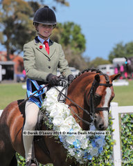 """Champion Small Show Hunter Pony, 12.2hh & under """"Imperial Vagabond"""" ridden and exhibited by Jessica Sharp"""