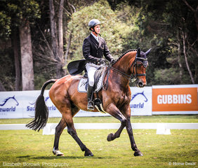Sam Lyle and BF Valour on their way to a superb 6th Place with a 67.98% in the BUCAS CCI4*-L.